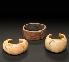 Africa | Three ivory bracelets from the Bamum people of Cameroon | Early 20th century