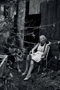 Lara Stone + Peter Lindbergh + Interview Magazine