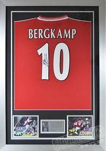 b87bad9d03a Autographed Dennis Bergkamp Arsenal FC Legend Shirt for sale online | eBay
