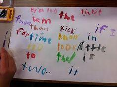 watercolor word work