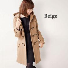 ハードメルトンロングダッフルコート_ナノユニバース_ベージュ Beige Coat, Japanese Fashion, Jackets, Style, Beige Trench Coat, Down Jackets, Swag, Japan Fashion, Outfits