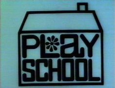 """Heres a house, Here's a door, Windows, one, two, three, four. Ready to knock? Turn the lock, It's play school!"""