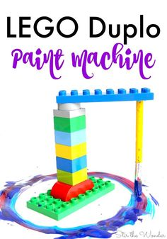 Building and painting with a LEGO Duplo Paint Machine is a wonderful way for kids to experiment with science, technology, engineering, art and math.