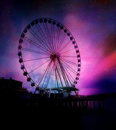 Ferris Wheel Seattle, Washington. Digital Art.