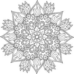 gunston coloring pages   Flower Mandala Coloring Pages #402   MANDALA FOR A TATTOO ...