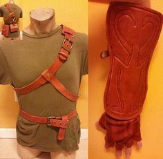 Legend of Zelda Cosplay Link Leather Belts, Bracer, Bags & Gloves Twilight Princess Medieval