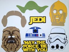 10 Star Wars Inspired Photo Booth Props by CleverMarten on Etsy, $30.00