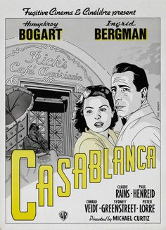 In Casablanca, Morocco in December a cynical American expatriate meets a former lover, with unforeseen complications. Humphrey Bogart, Casablanca Movie, Casablanca 1942, Old Film Posters, Cool Posters, Ingrid Bergman, Play It Again Sam, Ted, Movie Posters
