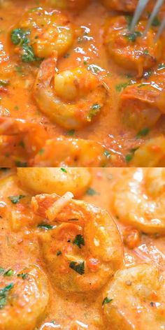 This recipe is my favorite way to eat shrimp. All of the ingredients pair perfectly together, and the sauce is so rich and flavorful. This Shrimp with Roasted Pepper Sauce could be enjoyed with pasta, over rice, or just as is. Dip a slice of fresh and c Shrimp Recipes For Dinner, Best Seafood Recipes, Seafood Dinner, Seafood Pasta, Shrimp Recipes With Rice, Baked Tilapia Recipes, Shrimp And Rice Recipes, Prawn Recipes, Seafood Gumbo