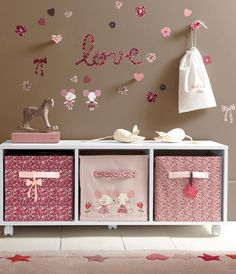 Stylish Toy Storage Ideas to Make Your Kid's Playroom Look Neat - mybabydoo Baby Bedroom, Baby Room Decor, Girls Bedroom, Bedroom Decor, Ideas Habitaciones, Toy Storage, Storage Ideas, Storage Boxes, Little Girl Rooms