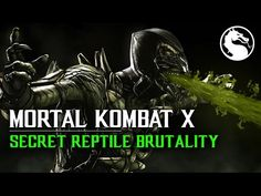 """MKX How to perform Reptile Secret Brutality """"Acid Bubble"""" Mortal Kombat X, Awesome Stuff, Reptiles, Bubbles, Movie Posters, Film Poster, Popcorn Posters, Film Posters, Posters"""