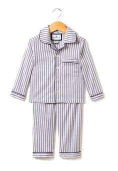 Petite Plume Navy French Ticking Pajama Set - Toddler & Boys on Toddler Pajamas, Boys Pajamas, Toddler Boys, Infant Toddler, Baby Pyjamas, Childrens Pyjamas, Kids Nightwear, Boys Sleepwear, Striped Two Piece
