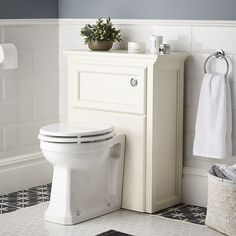 Savoy WC unit old english white image 1 Stand Wc, Concealed Cistern, Toilet Storage, White Image, Old English, Traditional Design, Storage Spaces, Charcoal, Grey