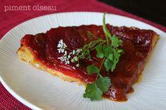 Tatin au chèvre et poivrons rouges grillés