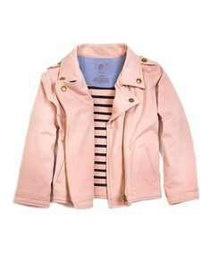Loving this Rose Jessica Organic Moto Jacket - Toddler & Girls on #zulily! #zulilyfinds