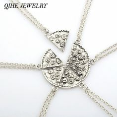 QIHE JEWELRY 6PCS Antique Silver Pizza Necklace Clavicle Chain Best Friend BFF Friendship Stamped Food Jewelry Christmas Gift //Price: $8.00 & FREE Shipping // Get it here ---> http://bestofnecklace.com/qihe-jewelry-6pcs-antique-silver-pizza-necklace-clavicle-chain-best-friend-bff-friendship-stamped-food-jewelry-christmas-gift/    #jewellery