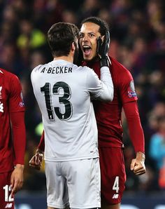 Liverpool beat Barcelona to reach Champions League final Liverpool Players, Liverpool Football Club, Liverpool Fc Wallpaper, Virgil Van Dijk, Premier League Champions, Barcelona, Rugby, Soccer, Breathe
