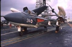 Eyes to the Skies — De Havilland Sea Vixen on the HMS Centaur, 1964 Royal Navy Aircraft Carriers, Navy Carriers, Military Jets, Military Aircraft, British Aircraft Carrier, Capital Ship, Flight Deck, Ww2 Aircraft, Navy Ships