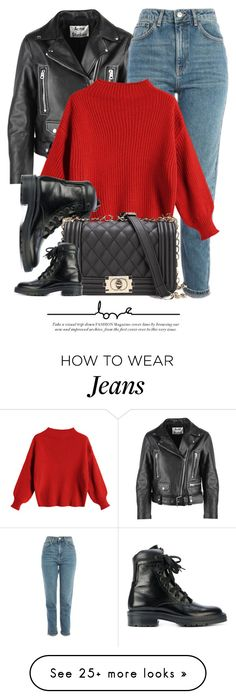 """20:33"" by monmondefou on Polyvore featuring Acne Studios, Topshop and Yves Saint Laurent"