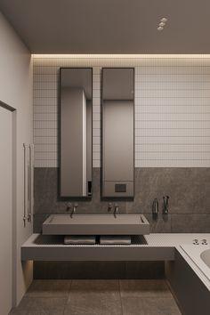 Interior Design Studio, Architecture Design, Taupe, Behance, Bathroom, Mirror, Furniture, Home Decor, Towers