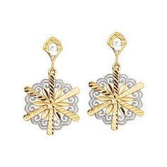 Flower Earrings, Gold Earrings, Gold Flower Earrings, Floral Earrings, Dainty Jewelry, Snowflake Earrings, 14K Gold Earrings