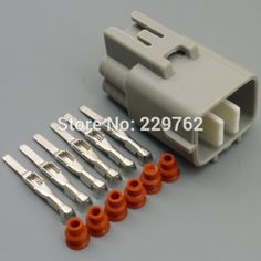 10sets 5 pin automotive waterproof wire connector 1 1718806 1 car shipping 100sets 6 pin 6 way car electric plug auto waterproof wire connectors male socket