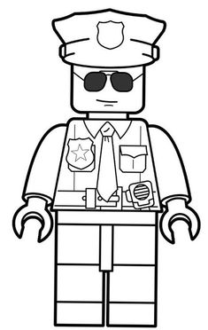 Lego Police Officer Coloring Pages Lego Coloring Pages, Coloring Pages For Boys, Printable Coloring Pages, Coloring Sheets, Kids Coloring, Police Officer Crafts, Police Crafts, Kids Police, Police Police