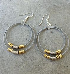 These earrings made from recycled bass strings. | 19 Gifts Every Classical Music Nerd Will Love