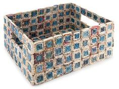 recycle paper basket | recycled newspaper medallion basket recycled newspaper medallion ...