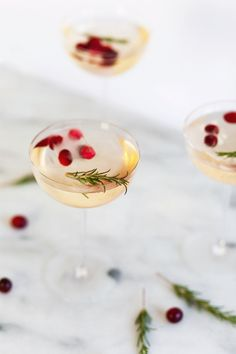 holiday cocktail recipe for cranberry sake punch via Anne Sage