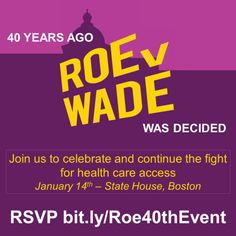 Boston: Join fellow women's health care advocates for a legislative breakfast and lobby day!