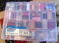 A great thread storage box from K Mart - $5 well spent.