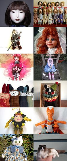 Art Dolls 2 by Pat Spieth on Etsy--Pinned with TreasuryPin.com