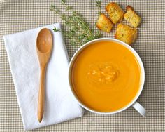 Sweet potato bisque (Secret Recipe Club) -- from the Yankee Kitchen Ninja