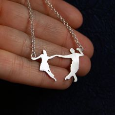 Made To Order  Swing swing swing Dance Silver Necklace by MarKhed, $75.00