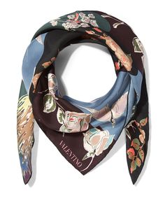 Valentino Garden Party Silk Scarf | Accessories | Liberty.co.uk