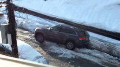Jeeps Stuck in Snow: Angry Man Stuck in Snow