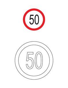 Trafik Işaretleri Boyama Sayfaları Okul Road Safety Signs Signs