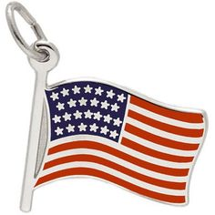 Sterling Silver Flag by Rembrandt Charms. Perfect for a Red, White and Blue celebration! #rembrandtcharms #flag #america #july4 #rickterryjewelrydesigns #knoxville