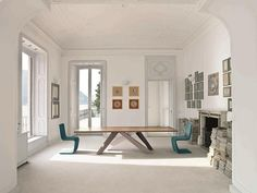 "Bonaldo ""Big"" Table and ""Venere"" Chairs; modern, understated and super clean lines"