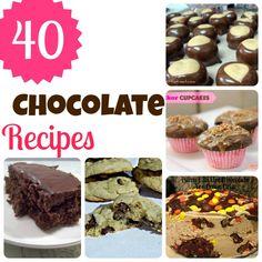 40 chocolate recipes   #chocolate #desserts #sweettreats
