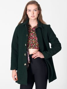 American Apparel - Unisex Wool Peacoat