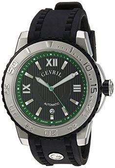 Gevril Men's 3111 Seacloud Analog Display Automatic Self Wind Black Watch
