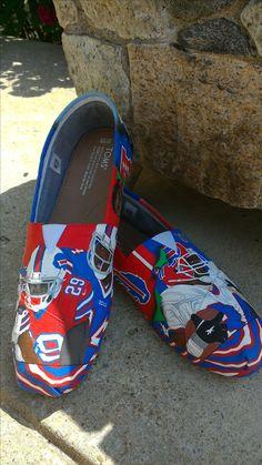 Buffalo Bills Hand Painted Custom Kicks.