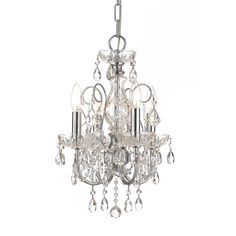 Imperial 4-light Crystal Chandelier in Chrome | Overstock.com Shopping - The Best Deals on Chandeliers & Pendants