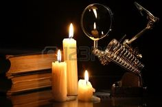 20464252-science-concept-retro-laboratory-equipment-and-books-near-lighting-candles-on-dark-background.jpg (450×300)