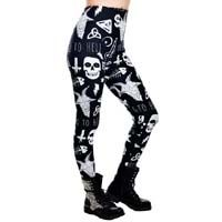 Go To Hell Addicted Leggings by Too Fast Clothing/Rat Baby