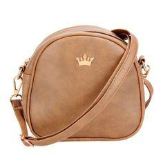 New Fashion Designer Handbag Phone Purse Women Small Bag Imperial Crown Women Messenger Bag Shoulder Crossbody Bag PU Leather
