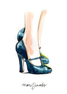 Caroline Andrieu Fashion Illustrations