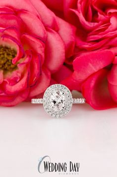 OMG this is THE PERFECT oval diamond halo engagement ring!